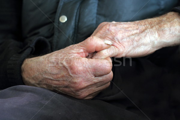 detail of old hands Stock photo © taviphoto