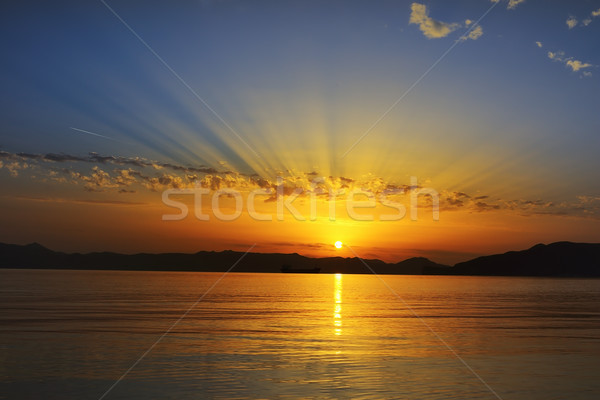 colorful sunset in Milos island Stock photo © taviphoto
