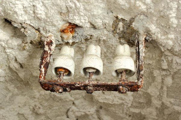 Foto stock: Edad · electricidad · sal · mina