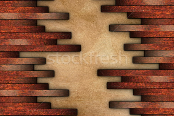 mounting cherry parquet on grunge surface Stock photo © taviphoto