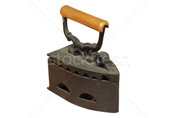 Rusty aislado hierro capeado carbón vintage Foto stock © taviphoto