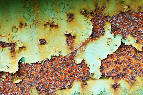 rusty painted old metal plate Stock photo © taviphoto