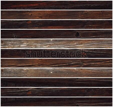 パラレル タイル 木材 孤立した 白 壁 ストックフォト © taviphoto