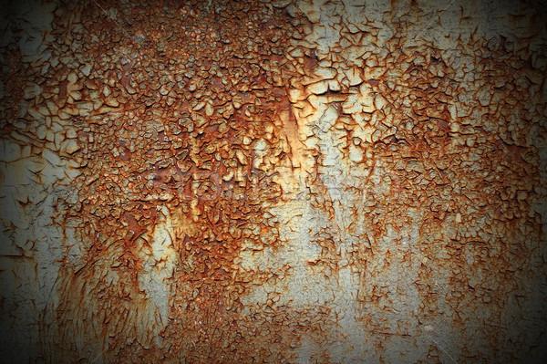 Textura óxido textura de metal metal interesante capeado Foto stock © taviphoto