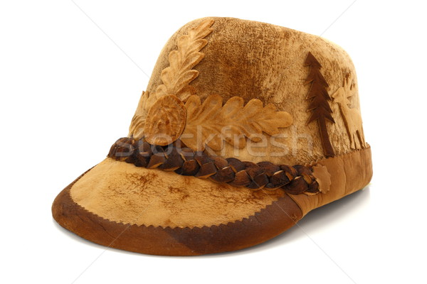 Geleneksel avcılık şapka eski geyik ladin Stok fotoğraf © taviphoto