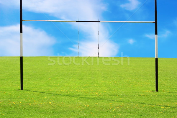 Rugby campo abstract view vuota cielo Foto d'archivio © taviphoto