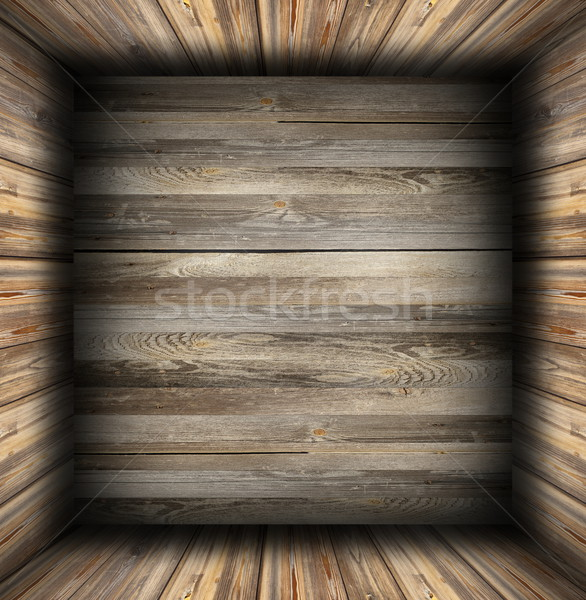 interior background finished with  weathered wood Stock photo © taviphoto