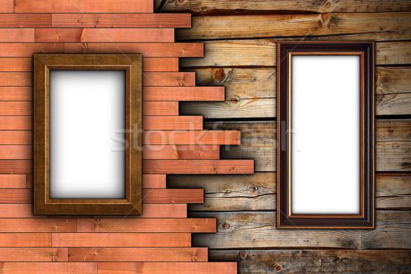 érdekes fa fal keret festmény textúra Stock fotó © taviphoto