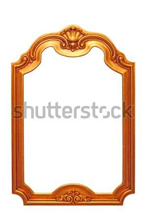 Barocco frame bella vecchio isolato bianco Foto d'archivio © taviphoto