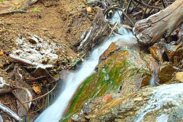 Hegy folyam részlet kicsi vízesés víz Stock fotó © taviphoto