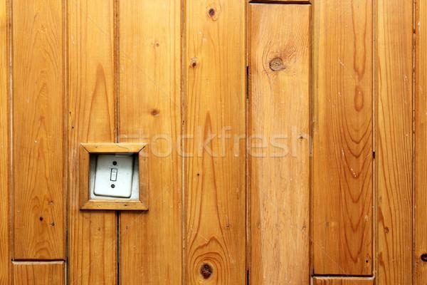 Starych elektryczne przełącznik ściany energii Zdjęcia stock © taviphoto