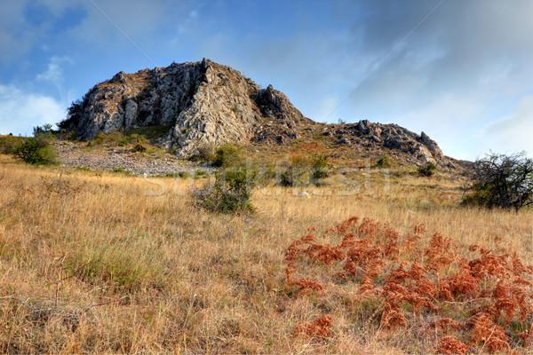 Calcaire pic montagnes mur paysage montagne Photo stock © taviphoto