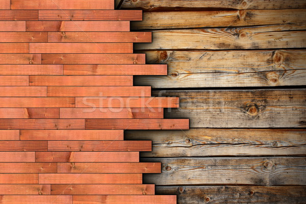 new floor montage on old wooden surface Stock photo © taviphoto