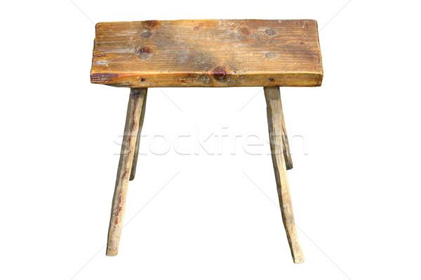 Aislado edad hecho a mano asiento interesante blanco Foto stock © taviphoto