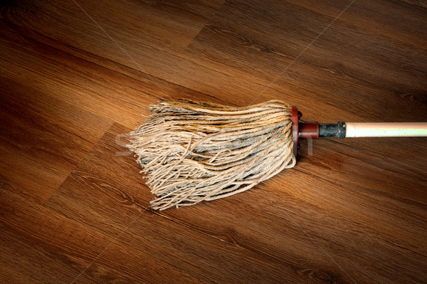 detail of a mop on wooden surface Stock photo © taviphoto