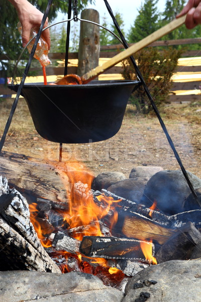 outdoor cooking Stock photo © taviphoto
