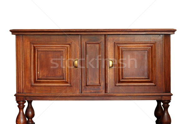 ancient wooden furniture over white Stock photo © taviphoto