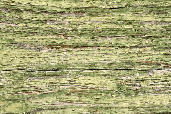 Agrietado edad verde pintura madera interesante Foto stock © taviphoto