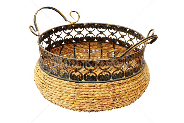 wicker basket for bread or fruits Stock photo © taviphoto