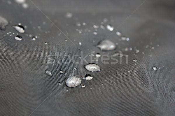 Wody materiału kroplami wody wodoodporny włókienniczych krótki Zdjęcia stock © taviphoto