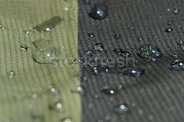 Acqua tessili materiale dettaglio verde nero Foto d'archivio © taviphoto