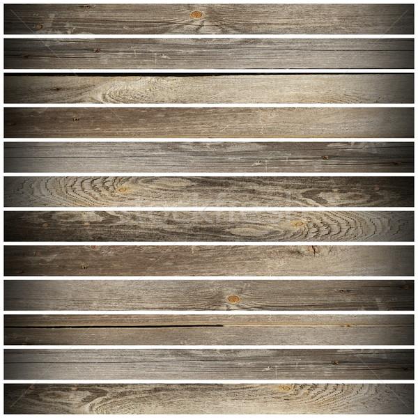 Madeira velha velho branco piso Foto stock © taviphoto