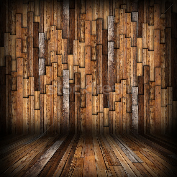 brown  planks finishing on interior backdrop Stock photo © taviphoto
