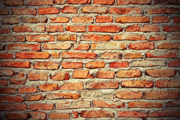 интересный кирпичная стена текстуры красный здании строительство Сток-фото © taviphoto
