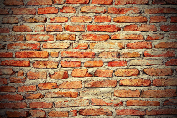 Interessant muur textuur Rood gebouw bouw Stockfoto © taviphoto