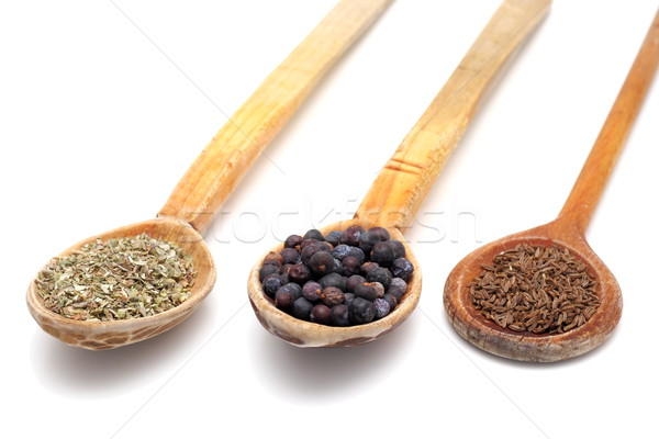 wooden spoons with spices Stock photo © taviphoto
