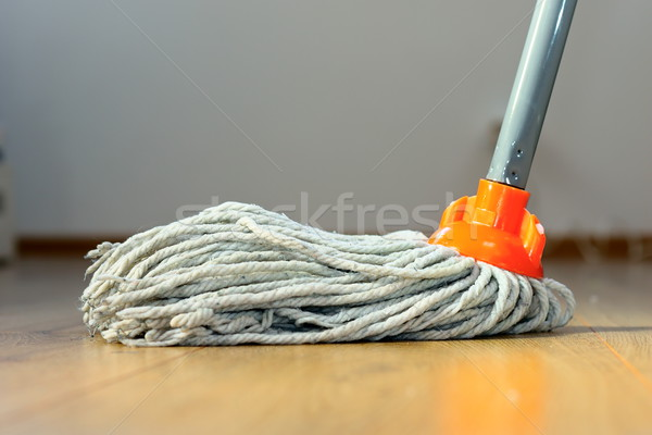 wet mop on wooden floor Stock photo © taviphoto