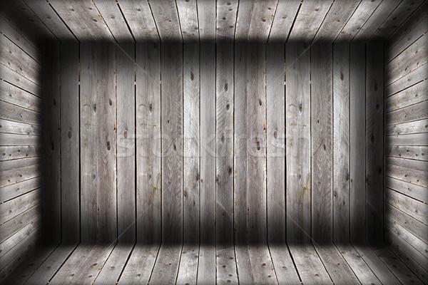 Sérült fából készült bent üres absztrakt építészeti Stock fotó © taviphoto