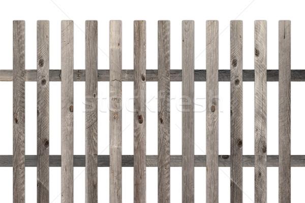 öreg kerítés modell kert izolált fehér Stock fotó © taviphoto