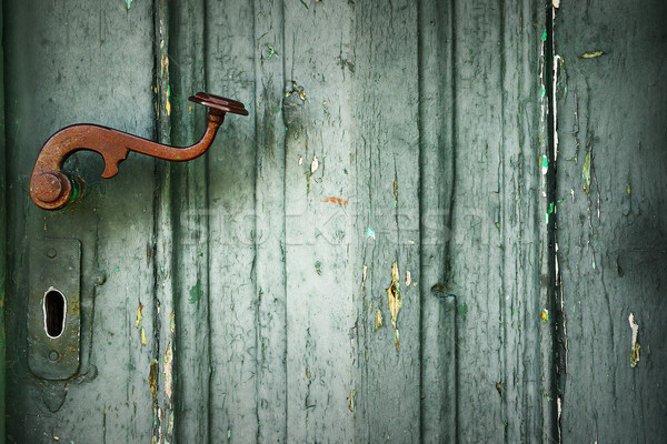 detail of old door latch Stock photo © taviphoto