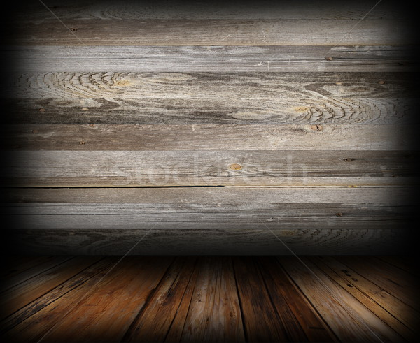 grungy wooden indoor backdrop Stock photo © taviphoto