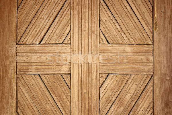 Részlet öreg román fából készült ajtó kézzel készített Stock fotó © taviphoto