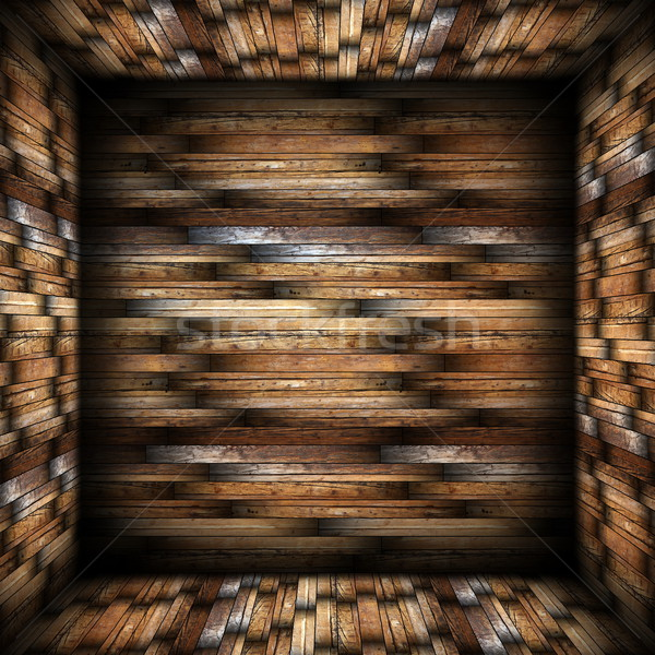 Abstract design legno muri piano Foto d'archivio © taviphoto