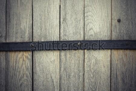 Stockfoto: Detail · eiken · houten · deur · textuur · hout