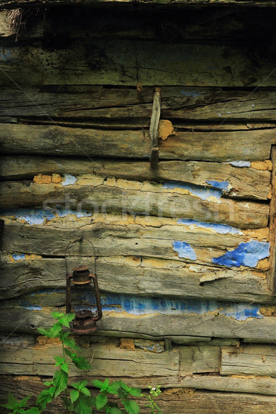 detail of abandoned wooden traditional house wall Stock photo © taviphoto