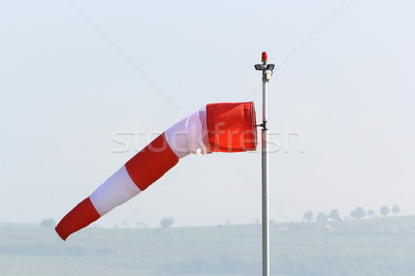 wind sock in an overcast day Stock photo © taviphoto