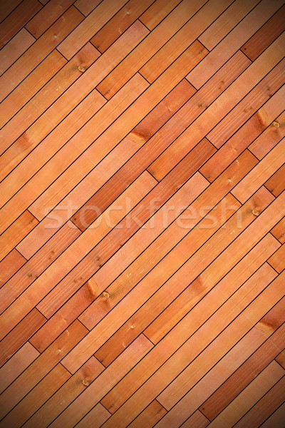 Stock photo: diagonal mount of wood parquet