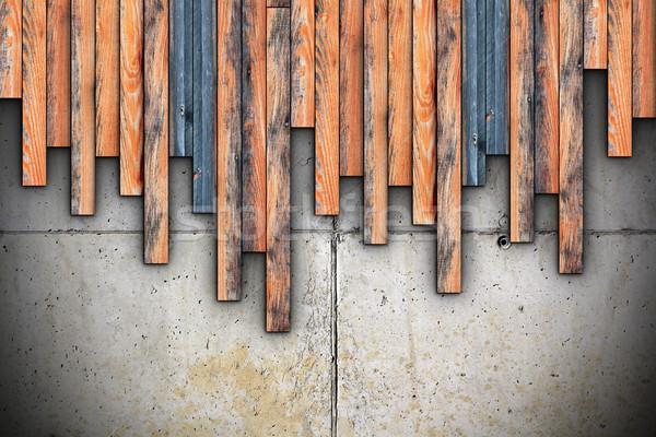 доски монтаж конкретные подробный архитектура Сток-фото © taviphoto