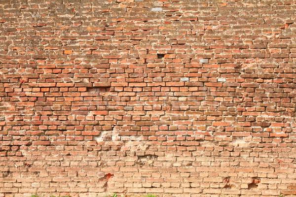 крепость красный кирпичная стена внешний текстуры Сток-фото © taviphoto