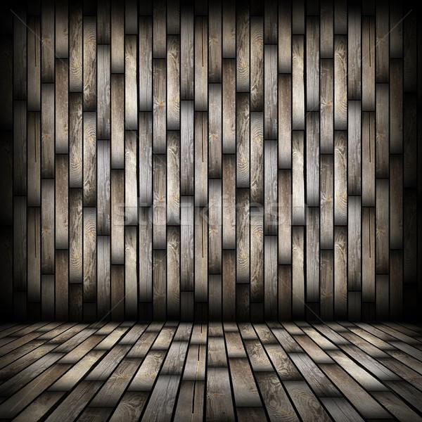 темно древесины доски интерьер фон Сток-фото © taviphoto