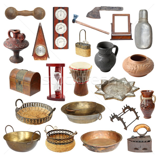 collection of old weathered isolated objects Stock photo © taviphoto