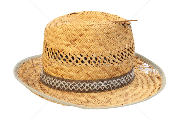 wicker damaged old hat Stock photo © taviphoto