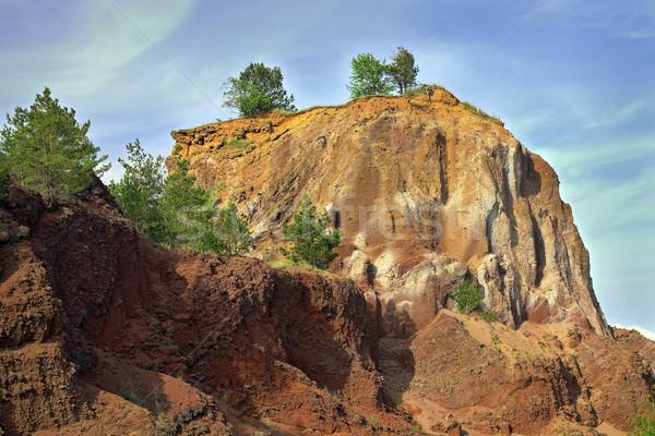 quarry in volcanic stone Stock photo © taviphoto