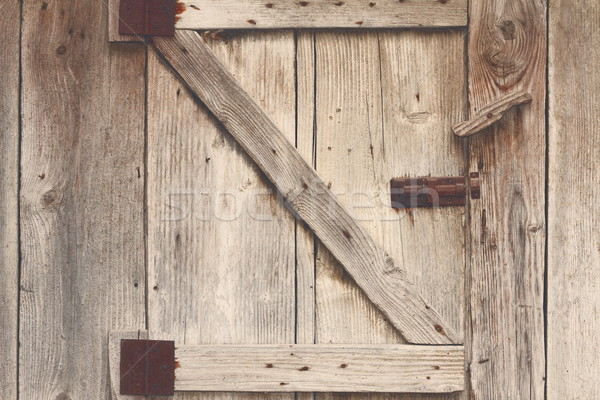 Ahşap ahır kapı detay görmek Stok fotoğraf © taviphoto