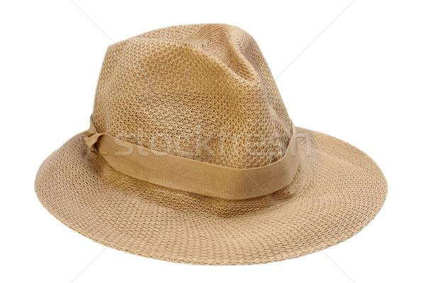 braided hat over white Stock photo © taviphoto