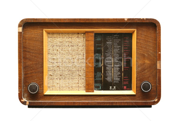 wooden radio isolated on white Stock photo © taviphoto